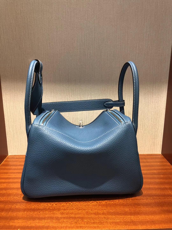 Hong Kong Hermes Lindy 26 taurillon Clemence CK75牛仔藍 Blue Jean
