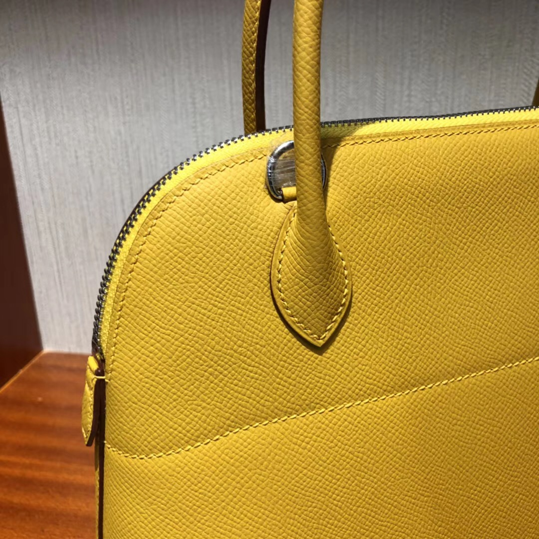 愛馬仕寶萊包Hermes bolide Handbags 27 9D Jaune Amber琥珀黃Epsom皮