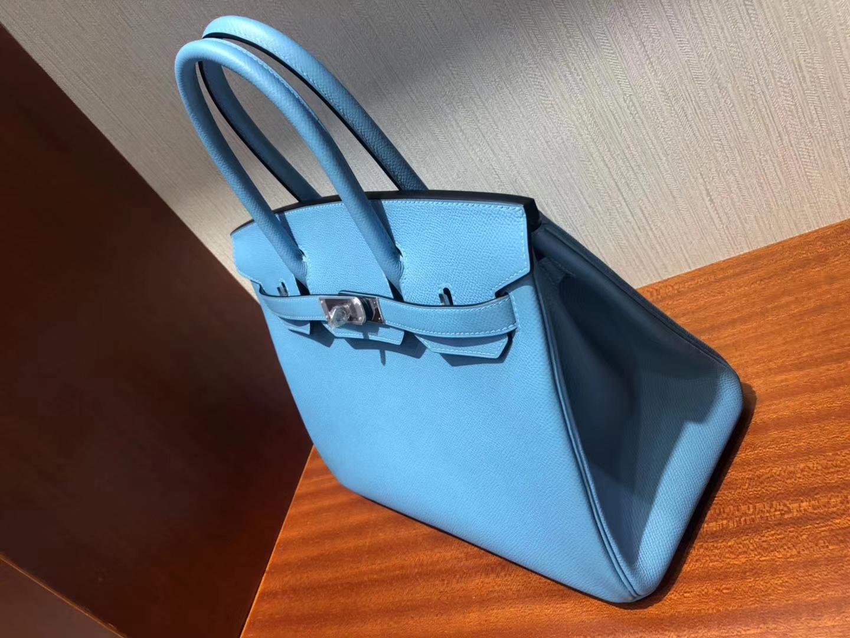 Singapore Hermes Birkin Bag 30cm P3北方藍Blue de Nord Epsom 皮