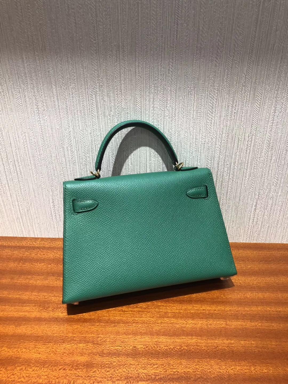 馬來西亞吉隆坡專賣店 Malaysia HERMES Mini Kelly2代 U4絲絨綠 禦用Epsom皮