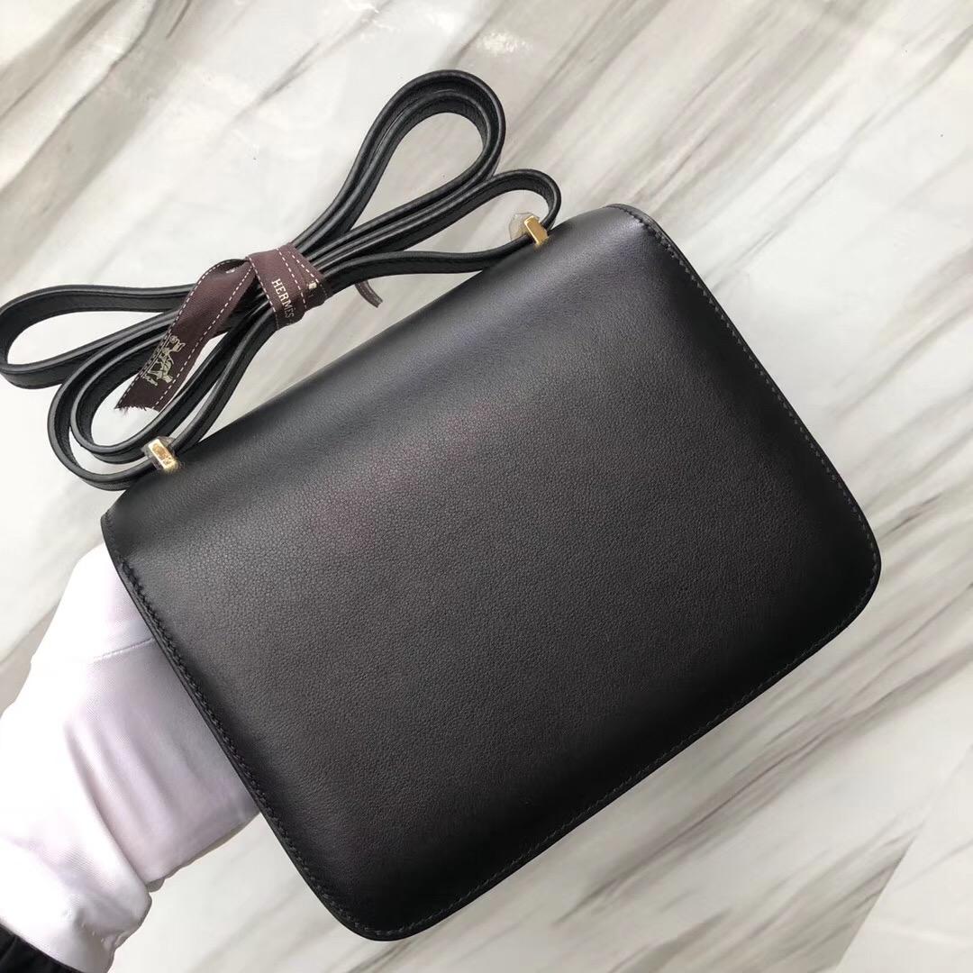 臺灣臺中Hermes Constance Price 19cm CK89黑色 Noir Swift calfskin 金扣