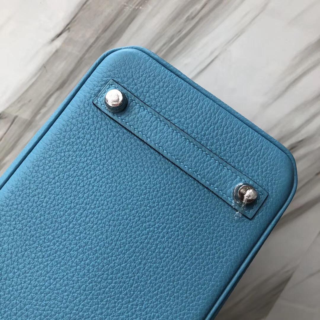 Taiwan Hermes Birkin Bag 25cm P3北方藍 Blue de nord Togo小牛皮