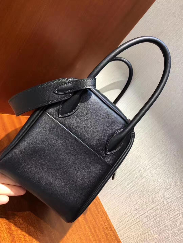 Hong Kong Hermes Lindy CK89黑色 Noir 26cm Swift牛皮 銀扣