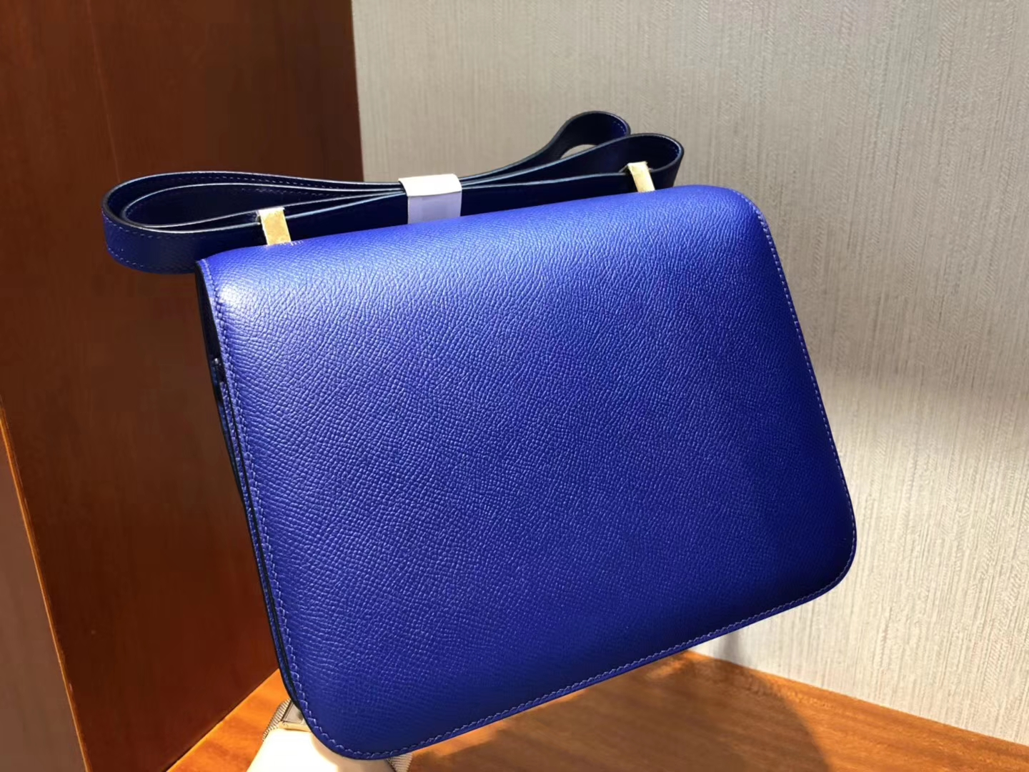 Hermes Constance 24cm 7T电光蓝 Blue Electric Epsom 掌紋牛皮