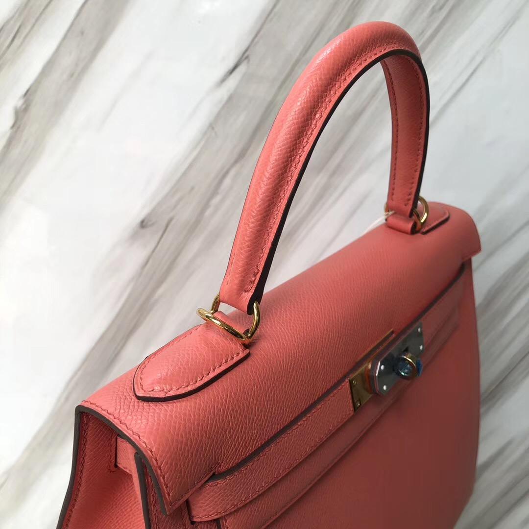 愛馬仕比佛利山莊店 Hermes Kelly Bag 28cm I5火烈鳥粉 Epsom皮
