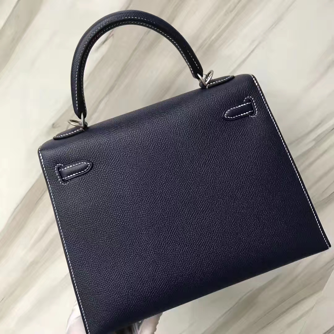 Hermes Kelly Bag 25cm Epsom 73深海藍Blue indgo/靛藍色Blue Indgo