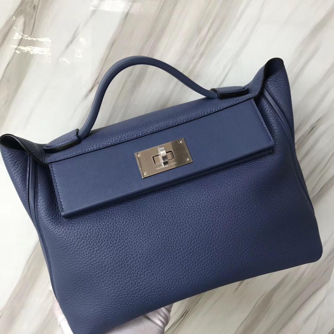 愛馬仕2018年新款 Hermès kelly2424 price 29cm 7E明藍色 Blue Brighton
