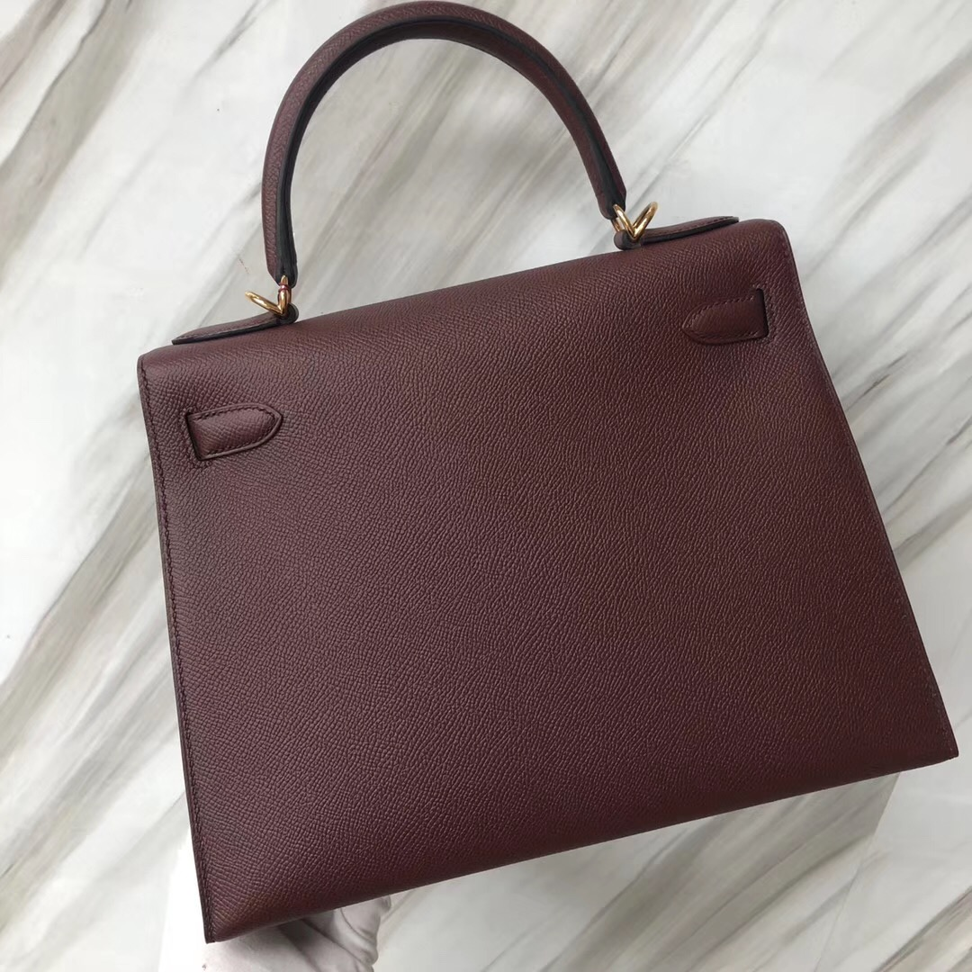 愛馬仕臺南專賣店 Hermes Kelly Bag 28 Epsom CK55爱马仕红 Rouge H 金扣