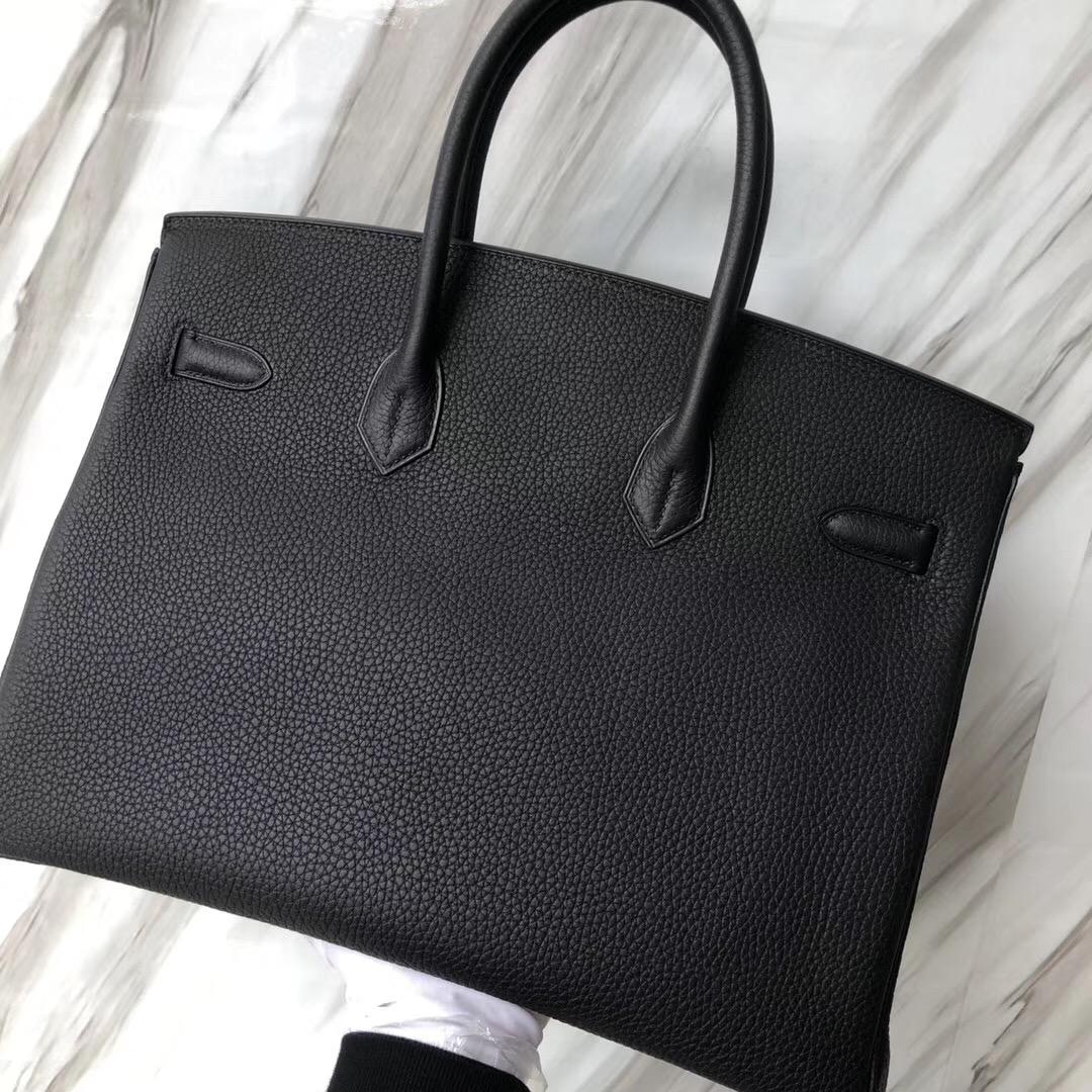 Hermes Birkin Bag 35cm CK89黑色 Noir Black Togo D Stamp, 2019