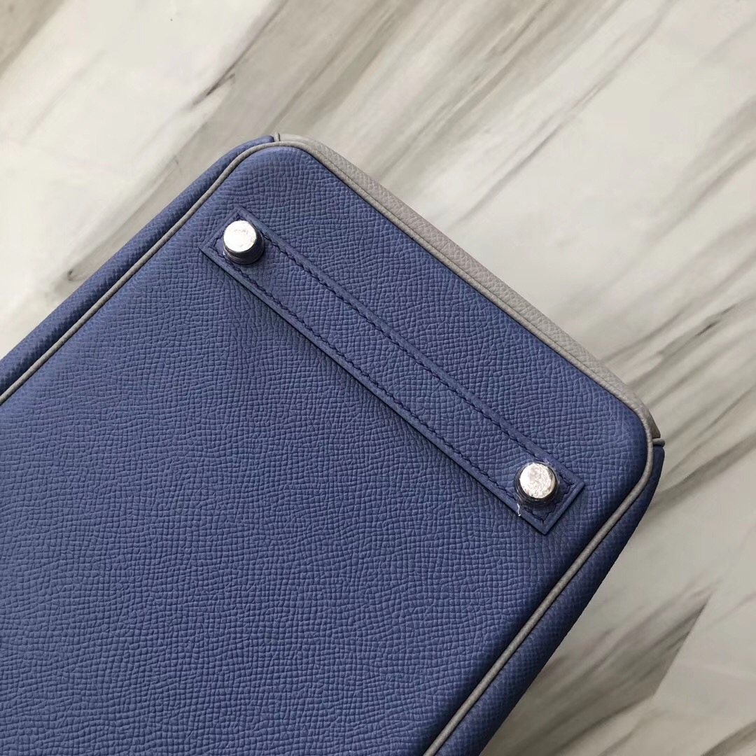 Hermes Birkin 30 Epsom CCR2瑪瑙藍blue agate/4Z海鷗灰Gris Mouette