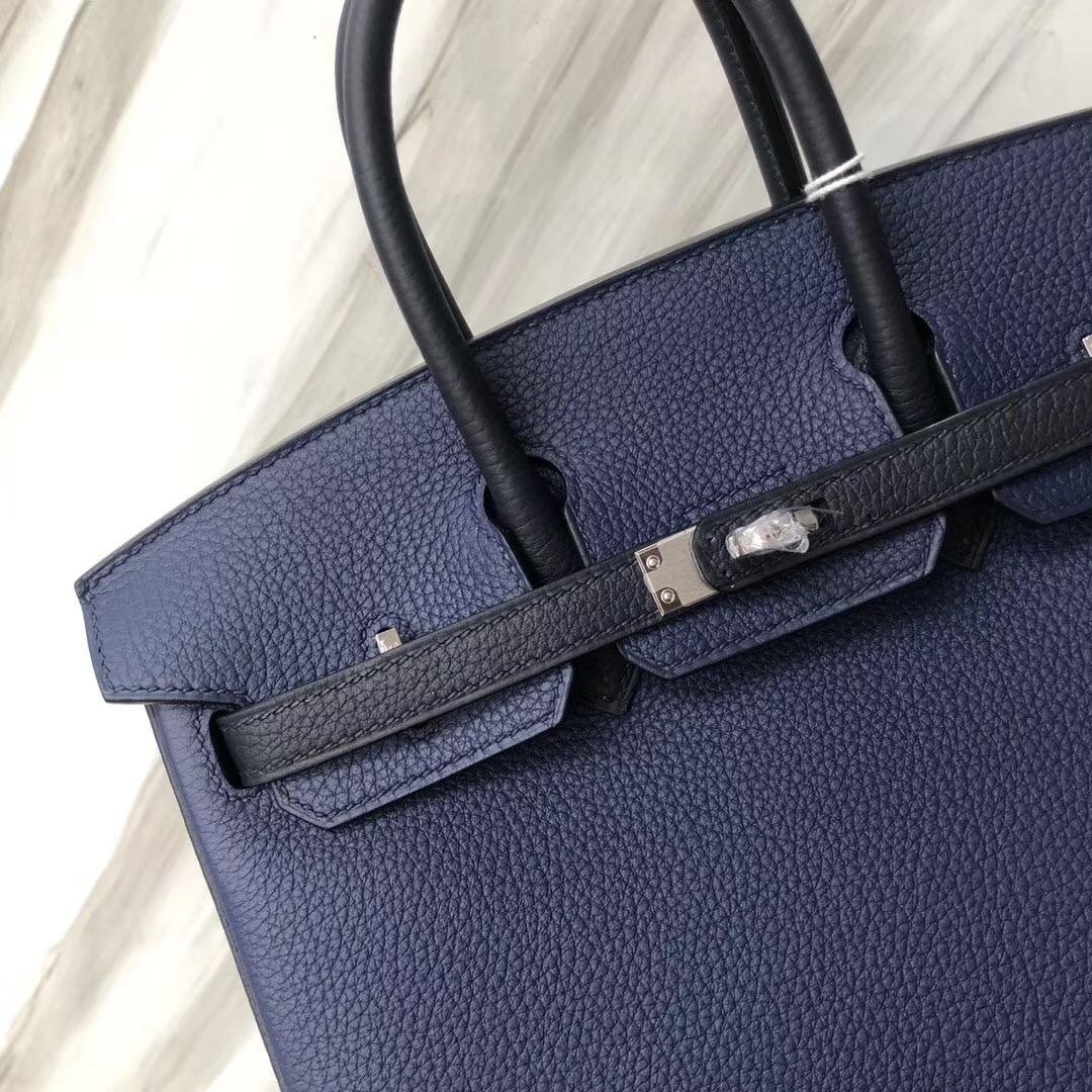 Hermes Birkin Bag 25cm CK73寶石藍 Blue sapphire/CK2Z 午夜藍bleu nuit 銀扣