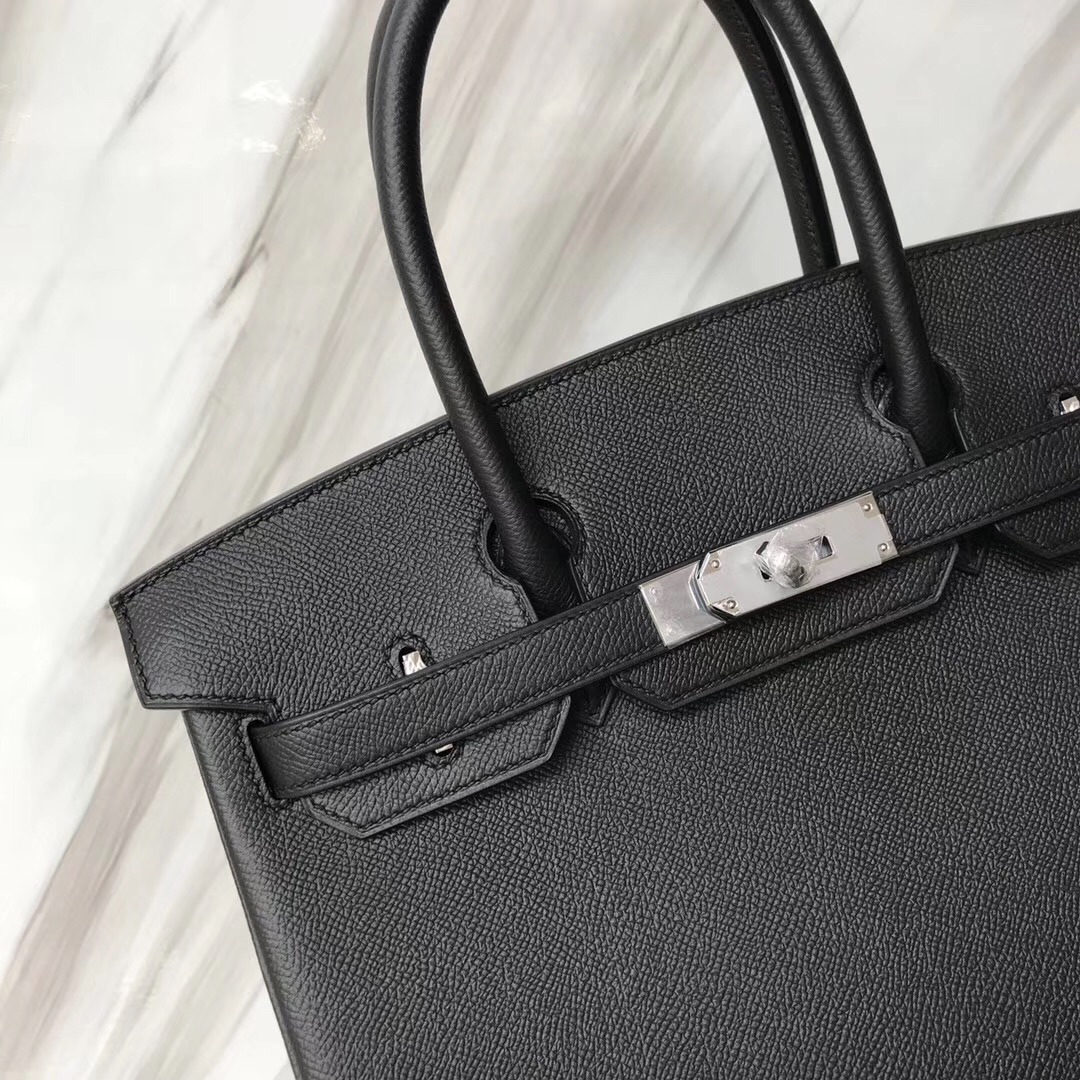 Hong Kong Hermes Birkin Bag 30 CK89黑色 Noir Epsom