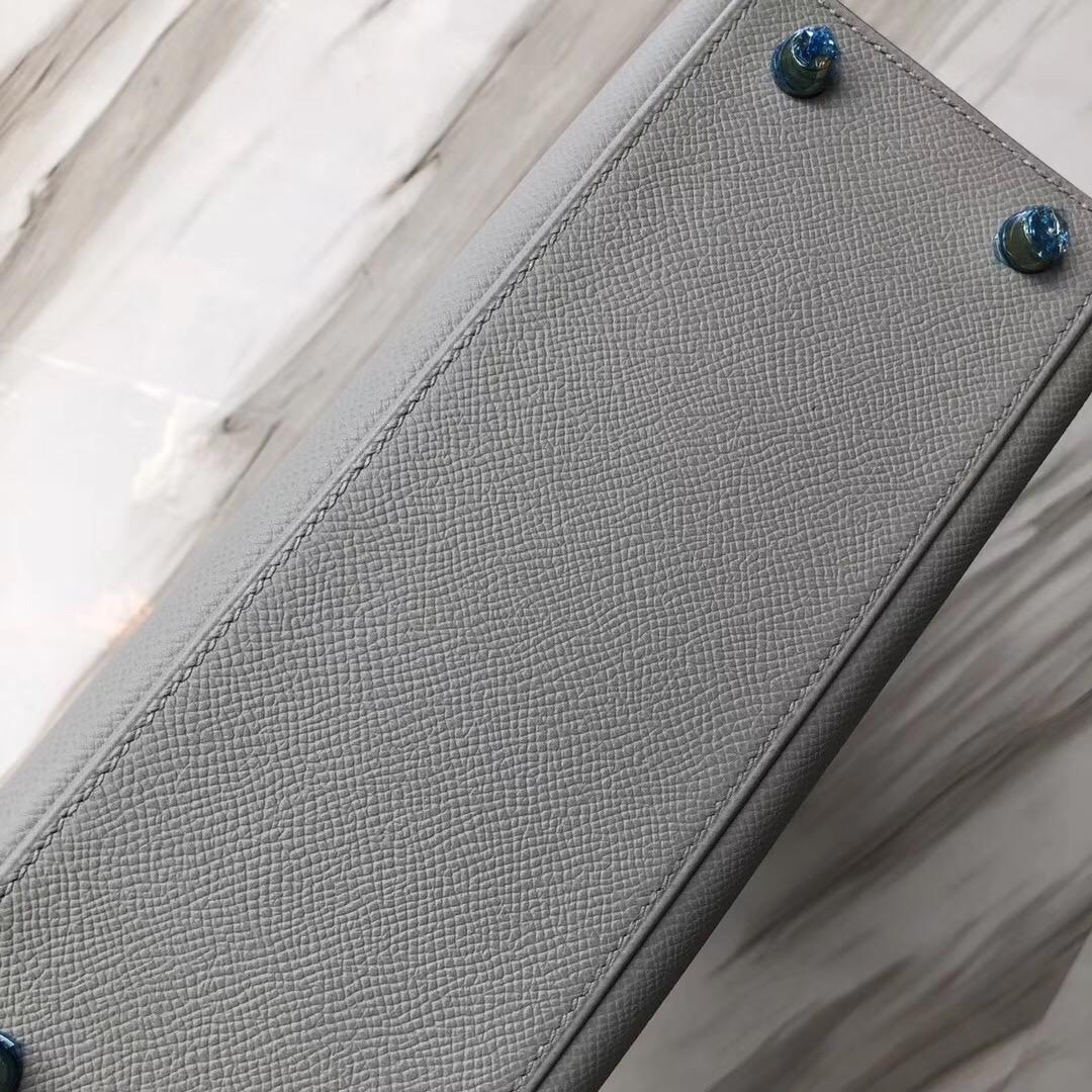 Hong Kong Hermes Kelly 25cm Epsom 4Z海鷗灰 Gris Mouette