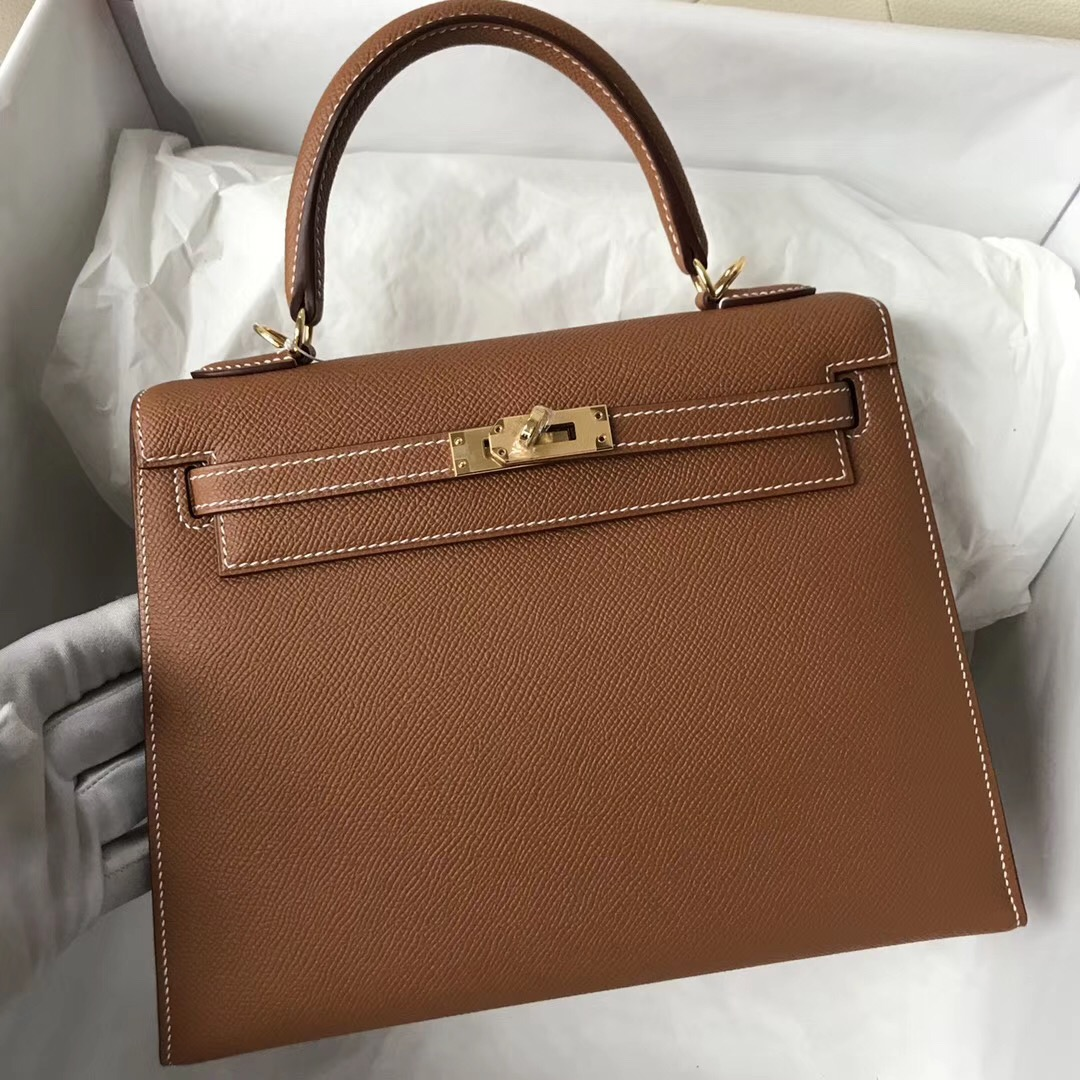 愛馬仕香港中環新店 Hong Kong Hermes Kelly 25cm CK37 Gold 金棕色