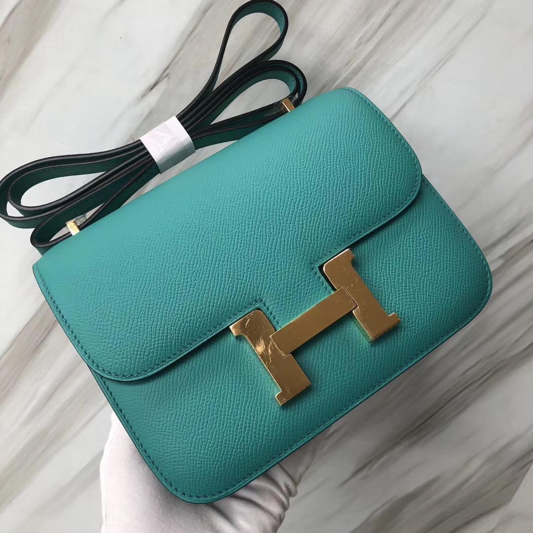 Hermes Constance 19cm 空姐包 1U維羅納綠 Vert verone Epsom 皮