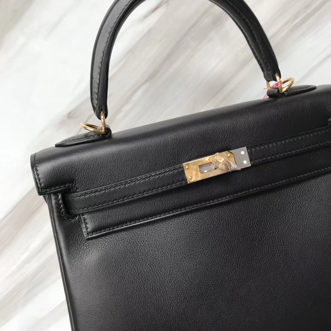 愛馬仕澳門永利皇宮專賣店 Hermès Kelly Bags 25 CK89黑色 Swift