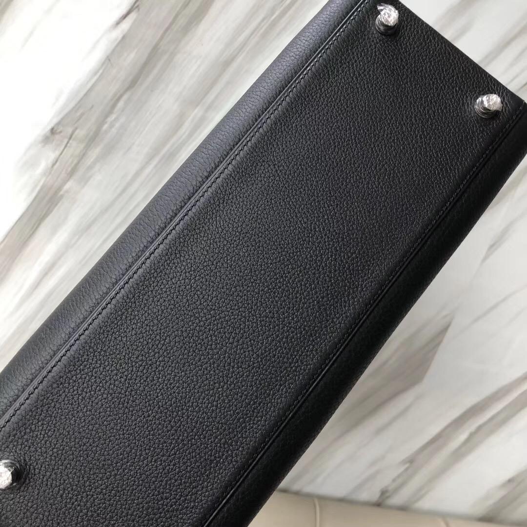 愛馬仕澳門壹號廣場專賣店 Hermes Kelly 32cm CK89黑色 Noir Togo皮
