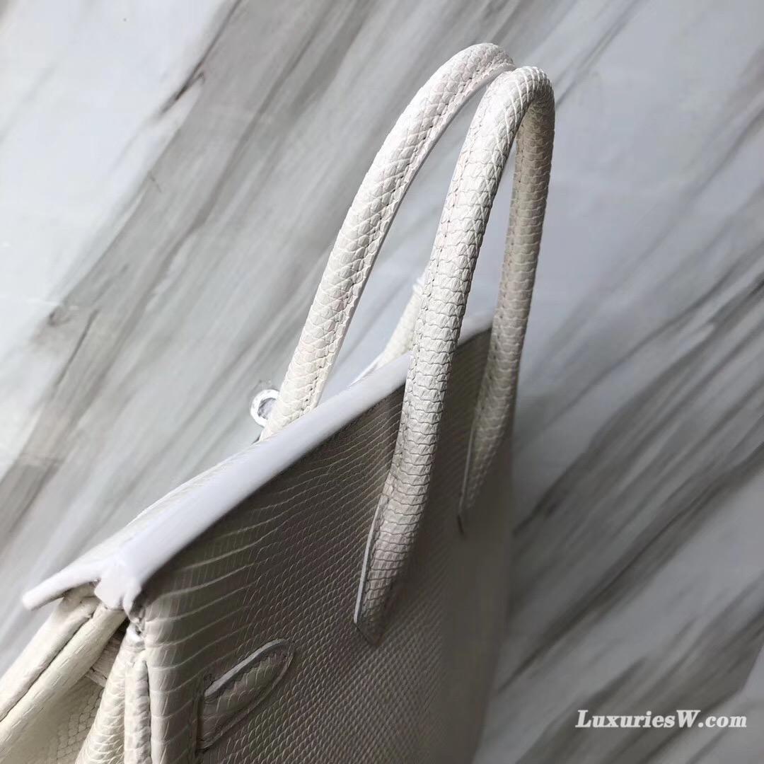 澳門永利皇宮愛馬仕店 Hermes Birkin 25 Lizard蜥蜴皮 8L奶油白 Beton
