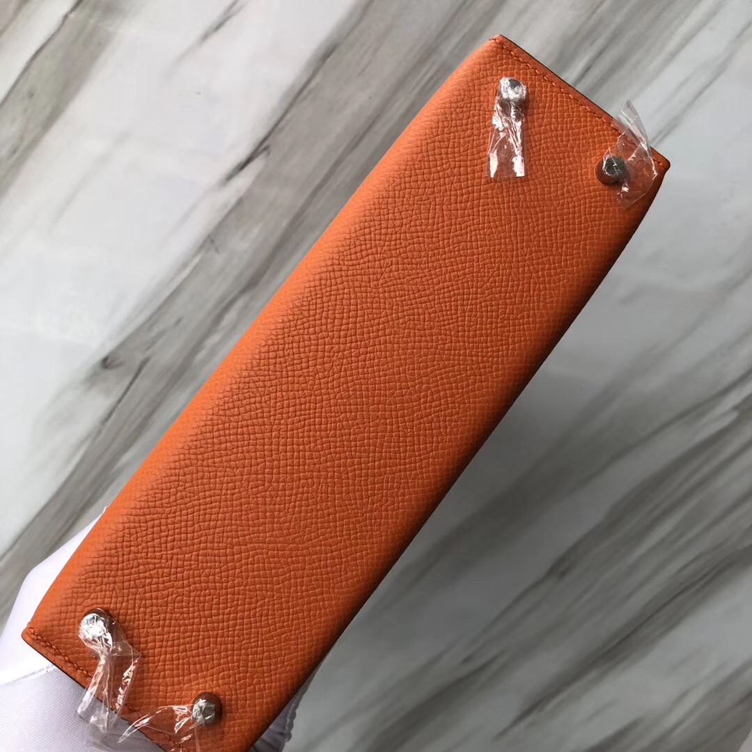 澳大利亞悉尼愛馬仕官網 Hermes Mini Kelly II CK93橙色 orange Epsom