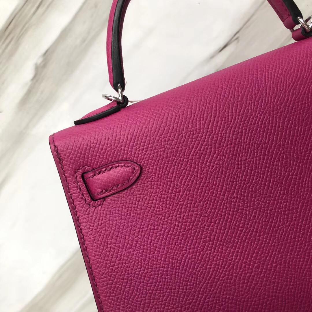 新加坡愛馬仕Hermes Mini Kelly 二代 Epsom L3玫瑰紫 Rose Purple