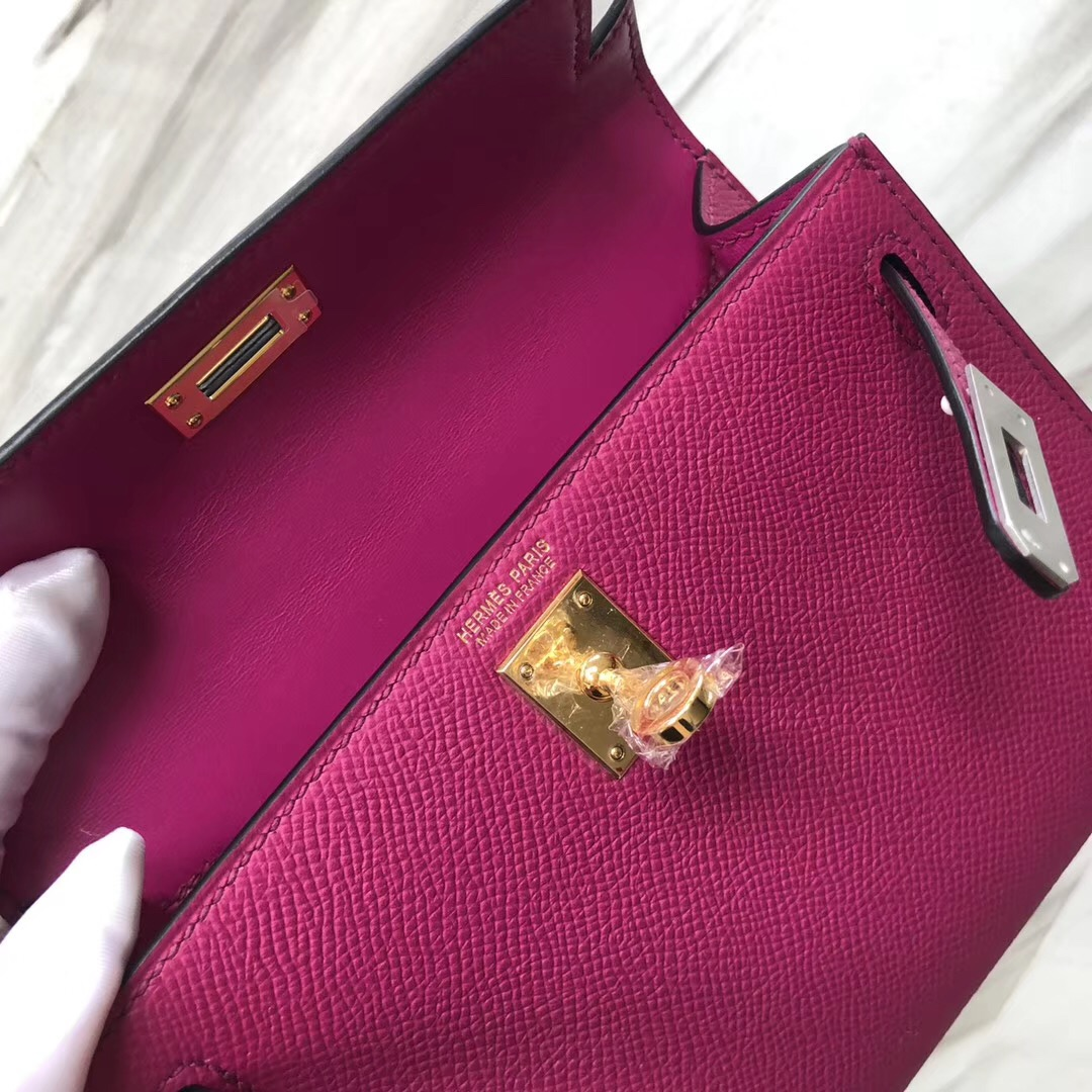 愛馬仕新加坡旗艦店 Singapore Hermes Mini Kelly 二代 L3 Rose Purple 玫瑰紫