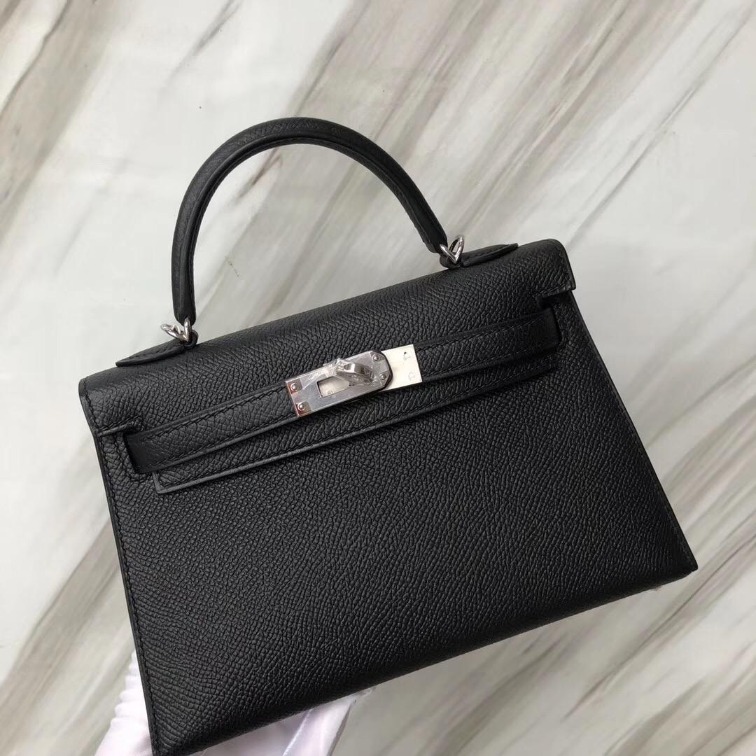 愛馬仕minikelly2代價格 Hermès MiniKelly2代 CK89黑色 Noir Epsom