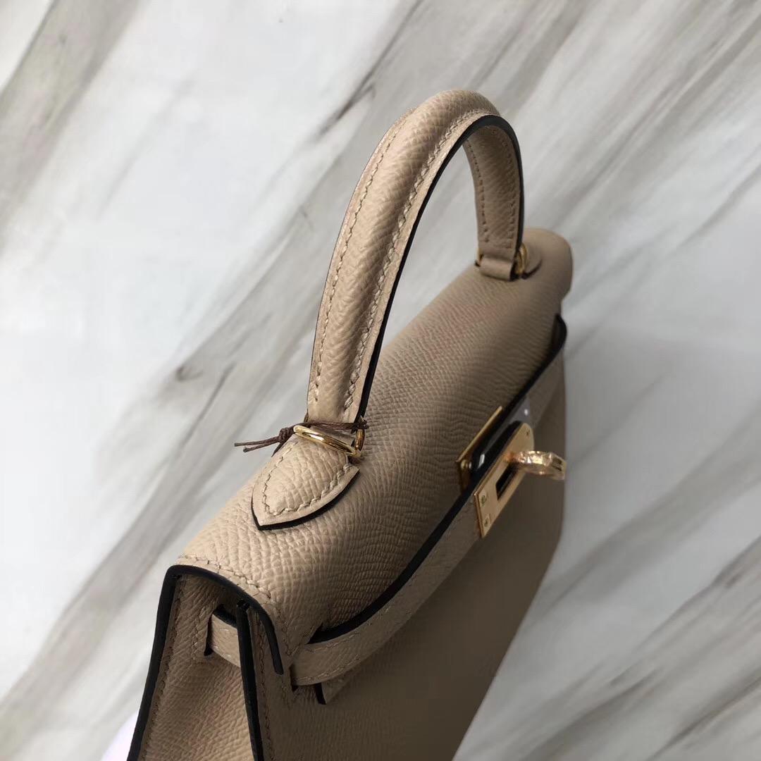 臺灣臺北愛馬仕凱莉迷妳二代尺寸 Hermès MiniKelly2代 S2風衣灰 Trench