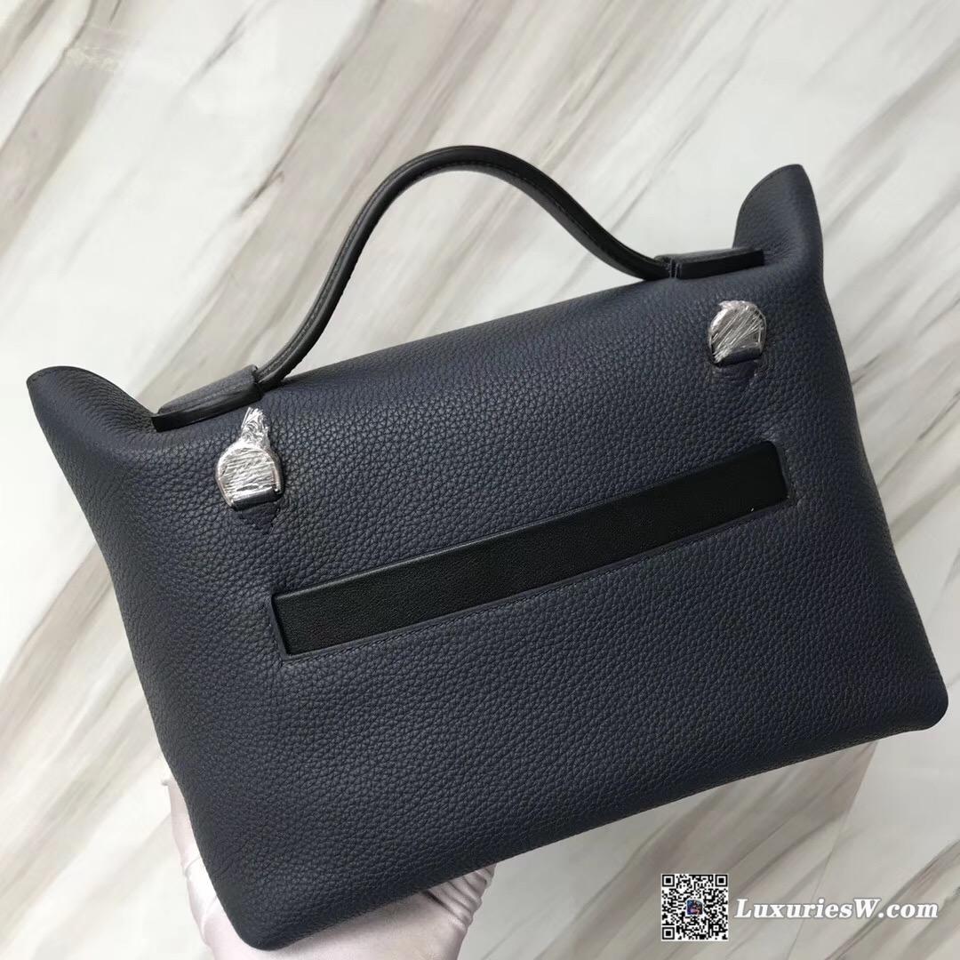 香港中環愛馬仕地址 New Hermès Bag Kelly 24/24 29cm 2Z午夜藍 Blue nuit
