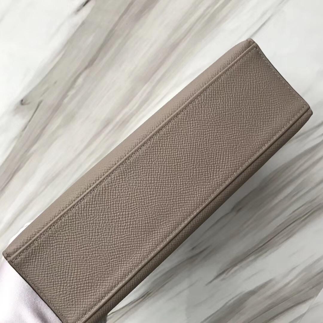 Hermès MiniKelly壹代 pochette Epsom M8沥青灰 Griss Asphalte