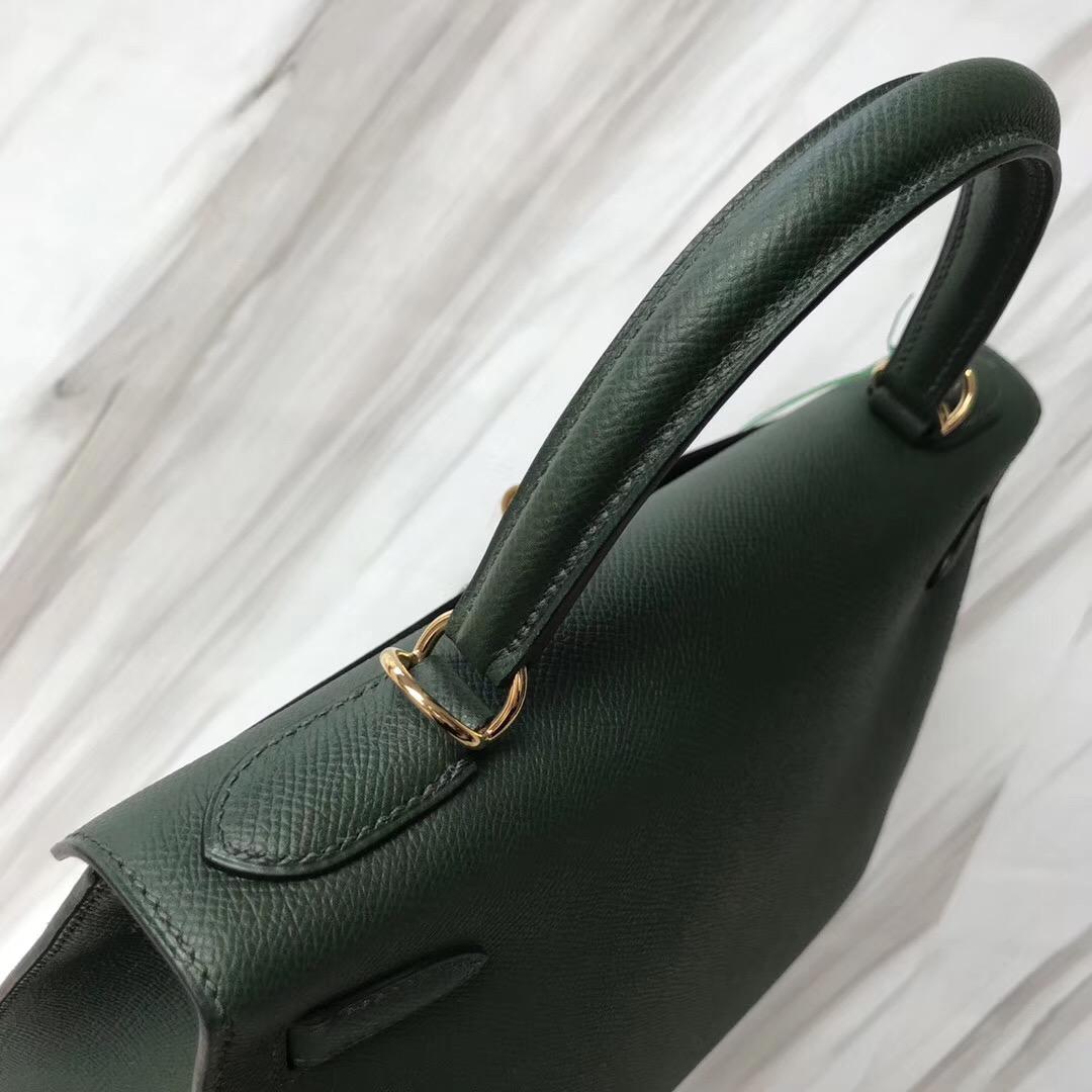 Hermes Kelly Bags 28cm 2Q英國綠 Vert Anglais Epsom