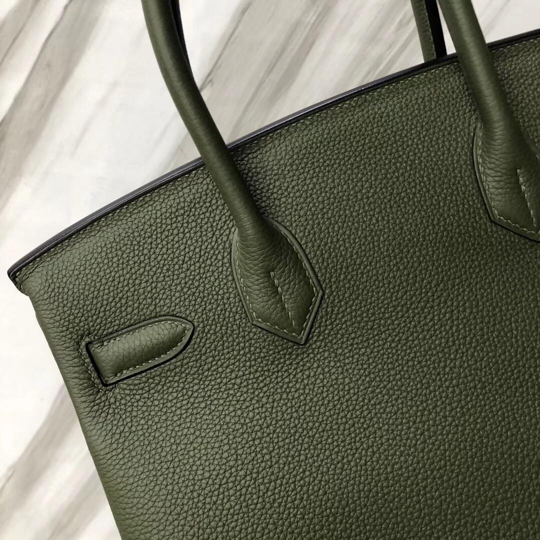 愛馬仕鉑金包 Hermes Birkin 30cm Bag V6 Canopee 叢林綠 Togo皮