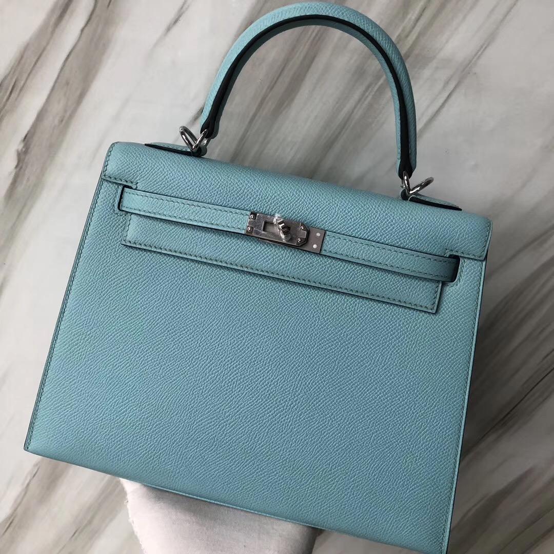愛馬仕臺灣桃園國際機場Hermès Kelly 25 Epsom 3P Blue Atoll馬卡龍藍