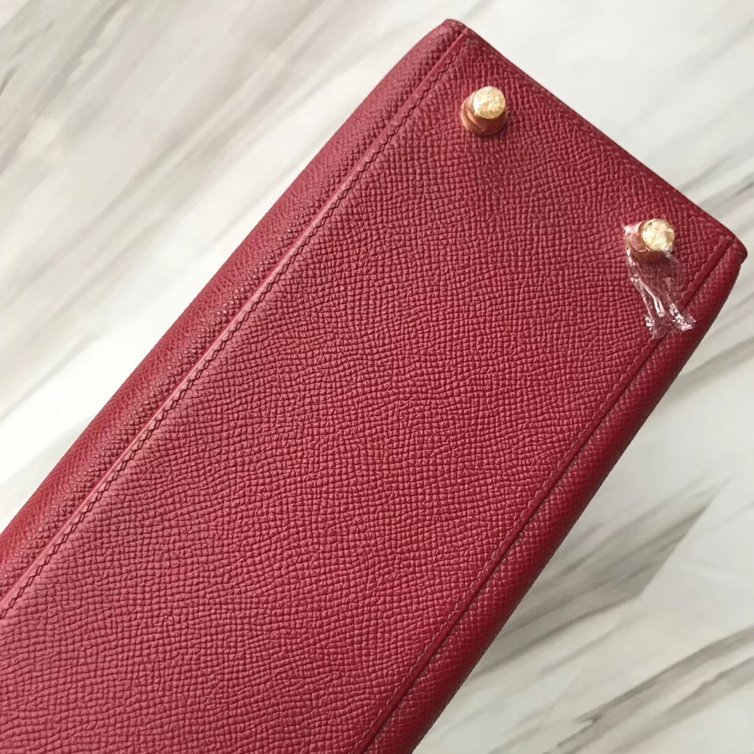 Hermès handbag Kelly 25cm K1石榴紅 Rouge grenat Epsom