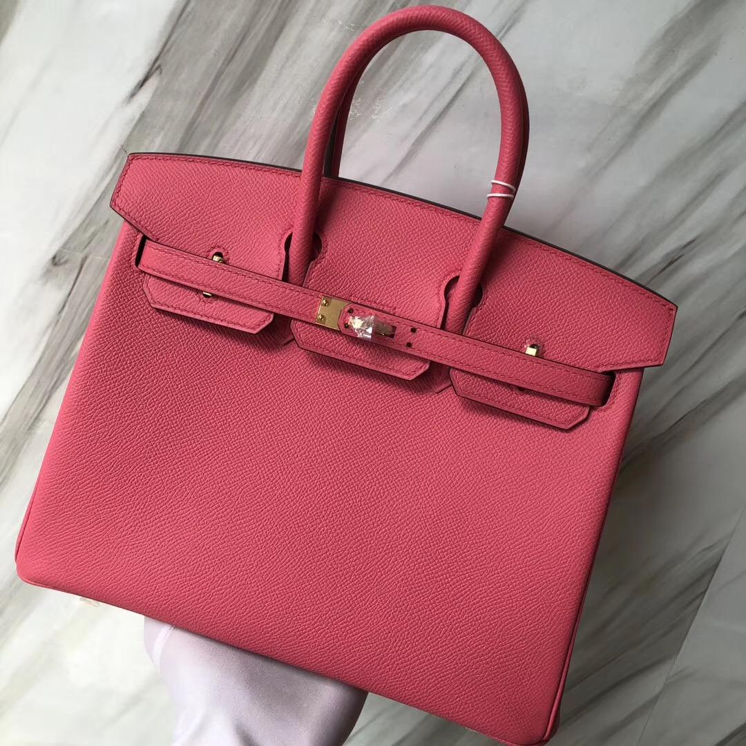 Hermès HSS Birkin 25cm 8W新唇膏粉Rose azalee 4Z海鷗灰Blue Mouette