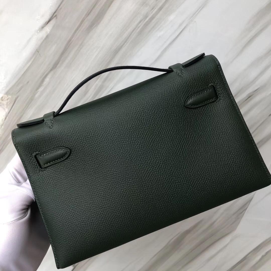 Hermes mini kelly 壹代 pochette 2Q英國綠 Vert Anglais
