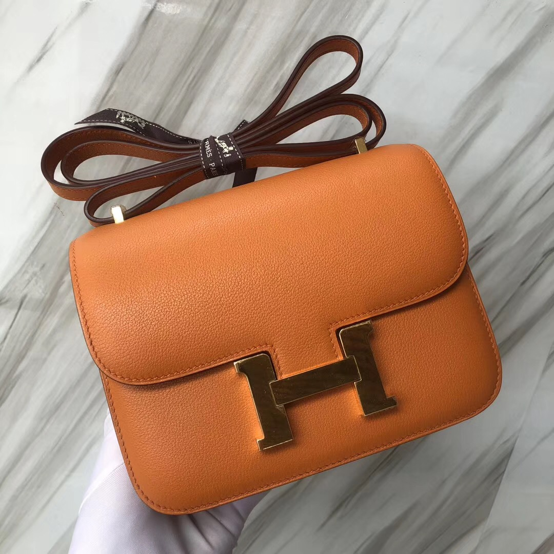 Malaysia Hermes Constance 19cm i9 Airport 杏黃色 everycolor 銀扣