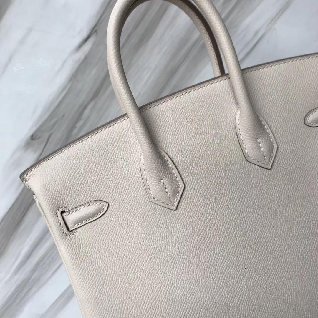 新加坡鉑金包攻略 Hermes Birkin Bag 25cm Epsom CK10奶昔白 Craie