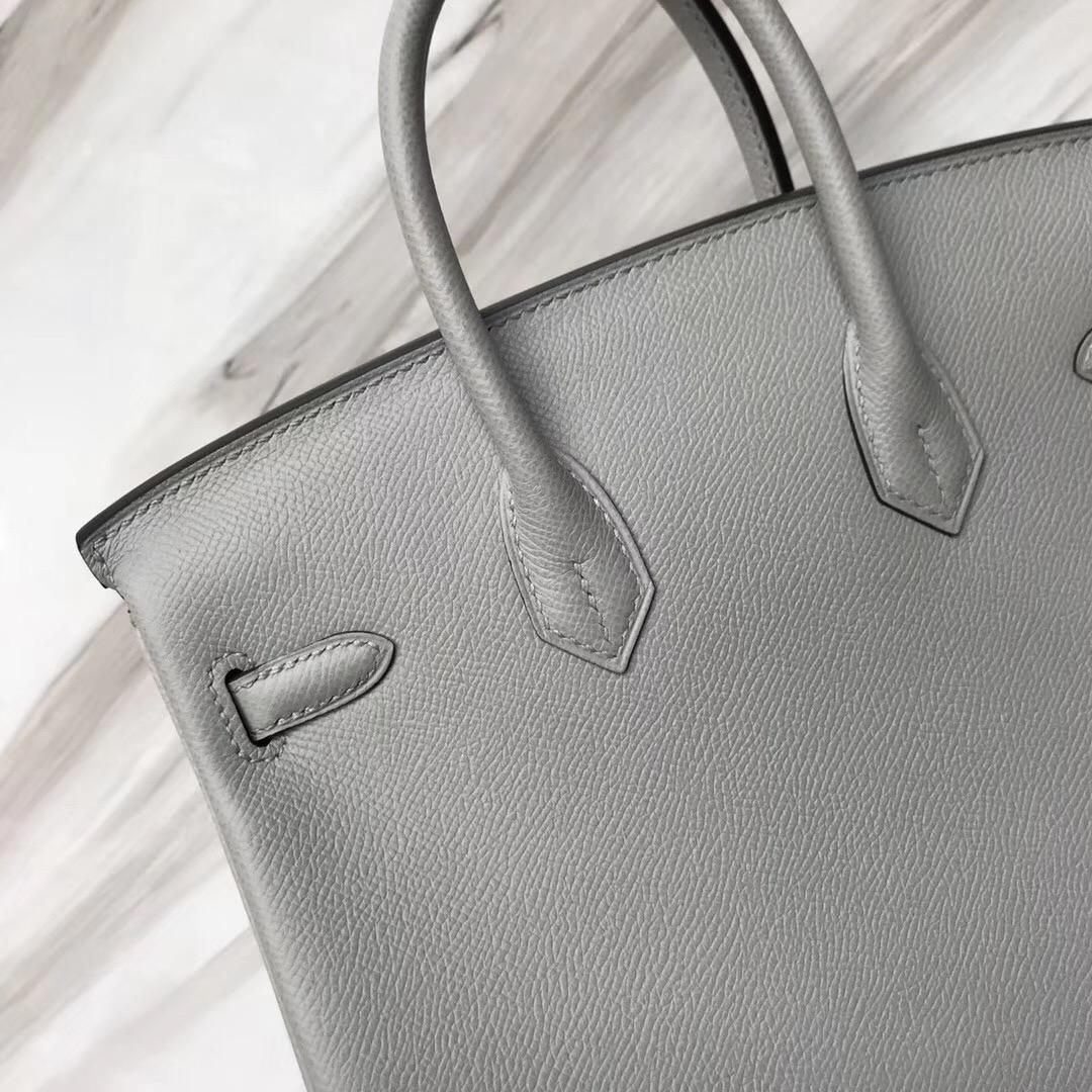 Singapore Hermes Birkin Bag 25cm 8U Blue Glacier 冰川藍 Epsom
