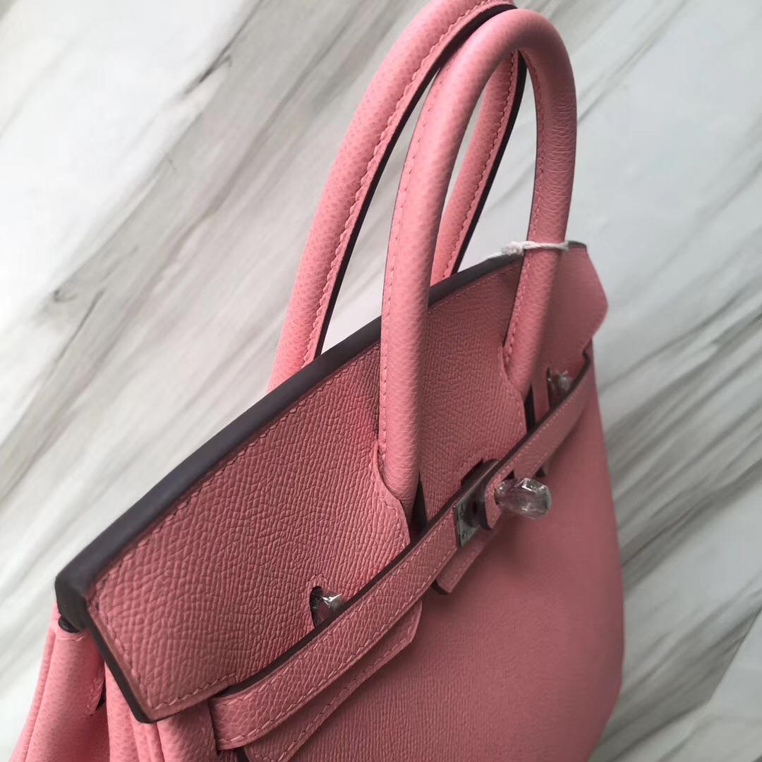Singapore Hermes Birkin Bag 25cm Epsom 1Q Rose Confetti 奶昔粉