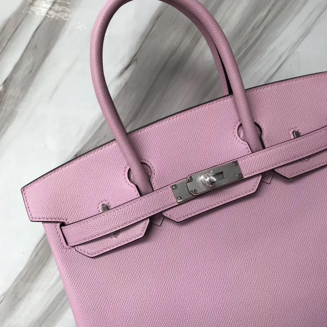 Hermes Birkin 30cm Epsom X9錦葵紫 Mawe Sylvestre 禦用手掌紋皮