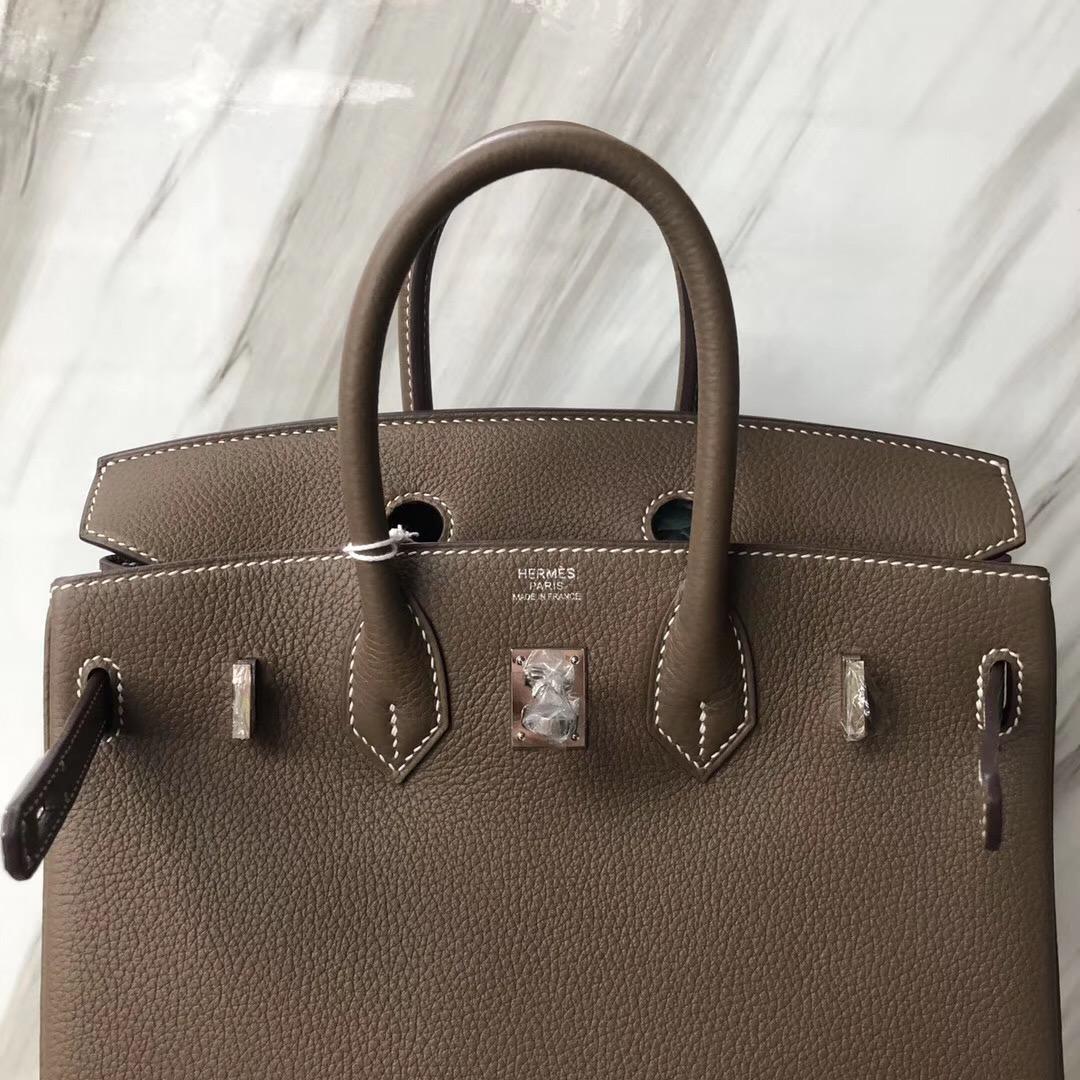臺北愛馬仕鉑金包專賣店 Hermes Birkin 25cm Togo CK18 大象灰 Etoupe