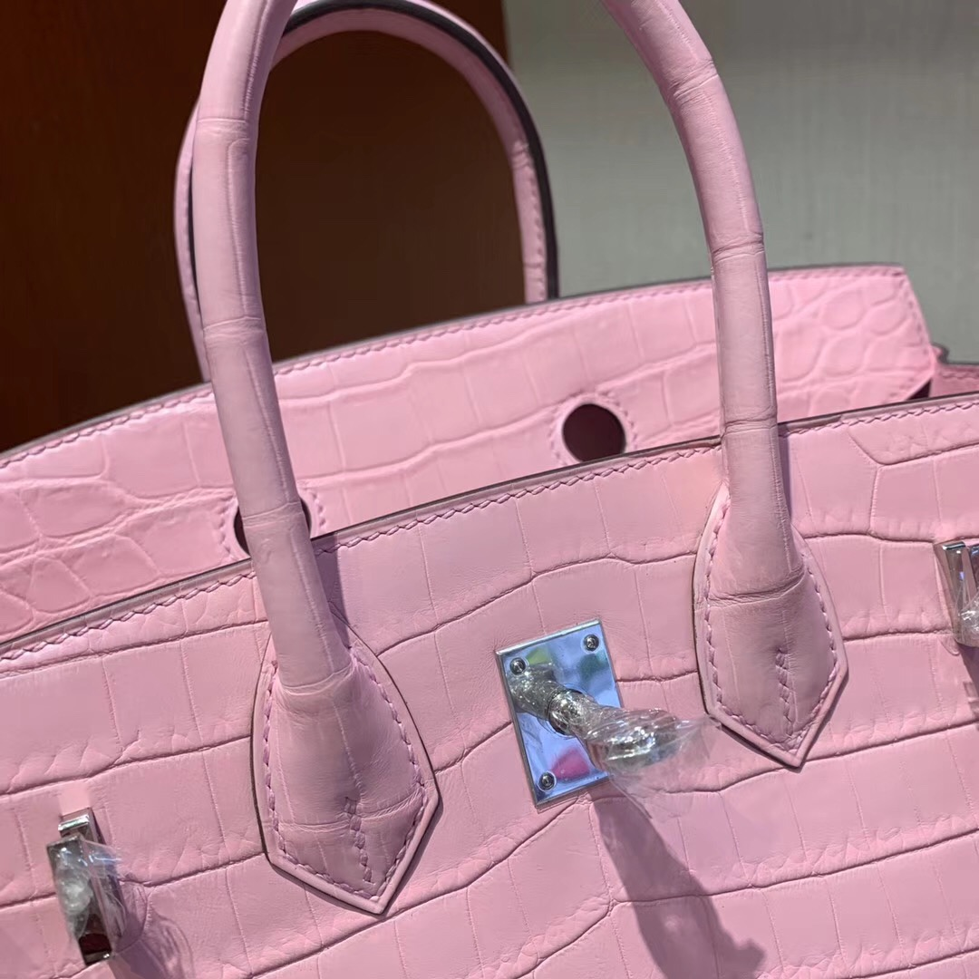 Malaysia Hermes Birkin 25cm 5P Pink 櫻花粉 霧面兩點 尼羅鱷