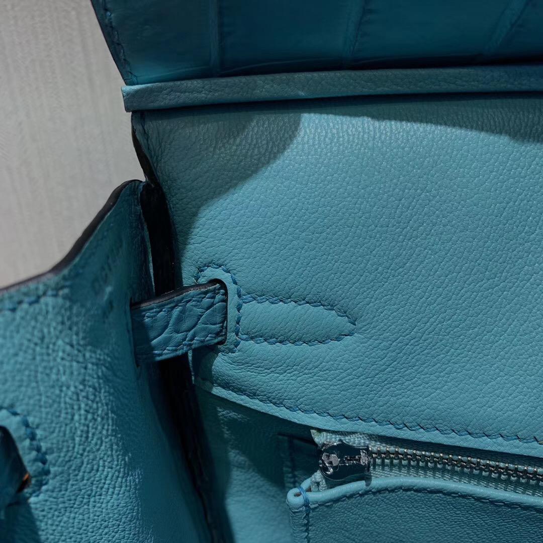 Malaysia Hermes Birkin 25cm 3Z聖利息亞蘭 霧面兩點 尼羅鱷