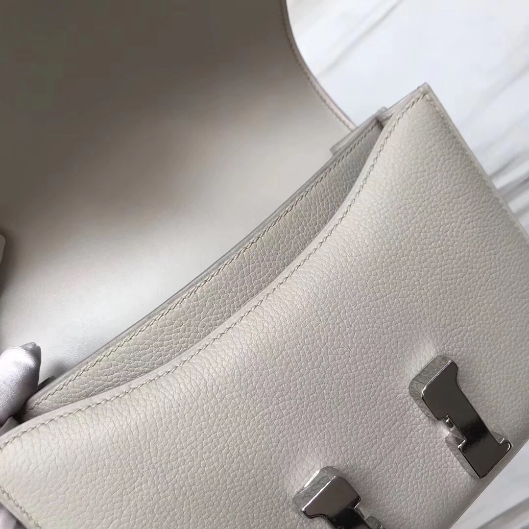 Hermes Constance 19cm everycolor CK80 Pearl Grey 珍珠灰