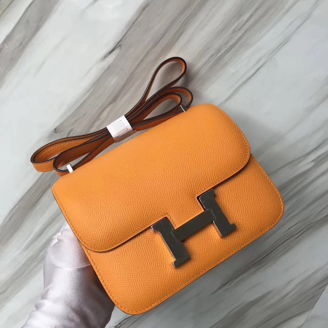 Malaysia Hermes Constance 19cm MNI Epsom皮 i9杏黃色 Airport