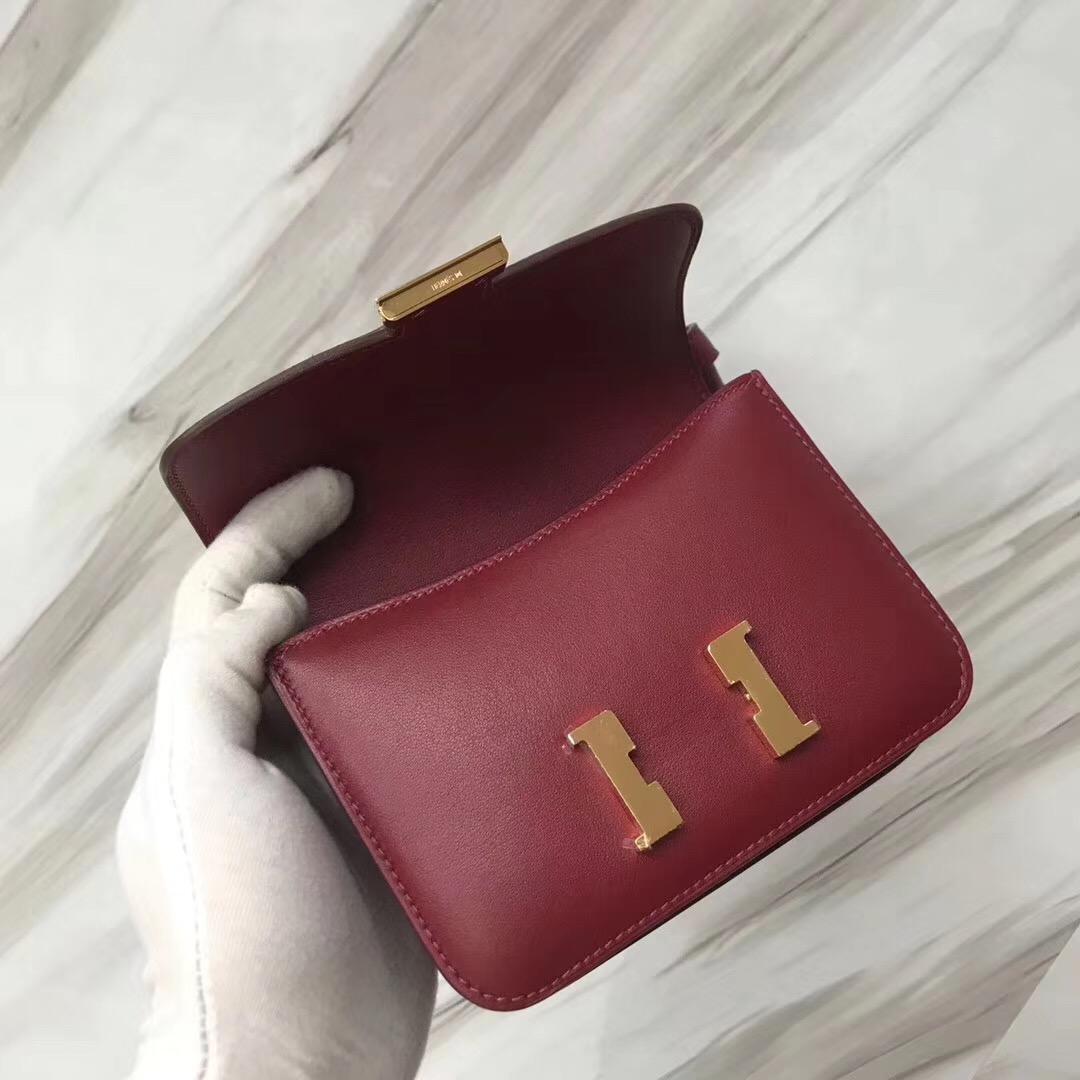 Hermes Constance Mini 14cm Swift K1石榴紅 Rouge grenat
