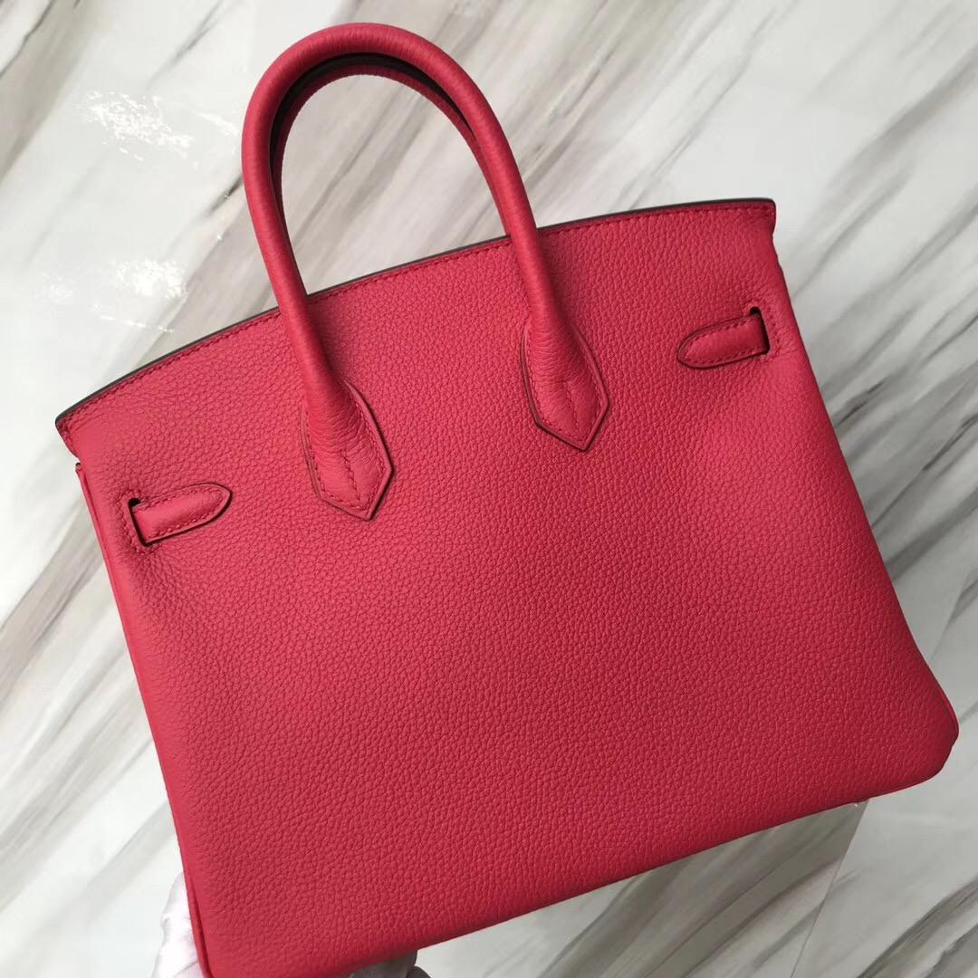 愛馬仕鉑金包臺北專賣店  Hermes Birkin 25cm Togo I6極致粉 Rose extreme