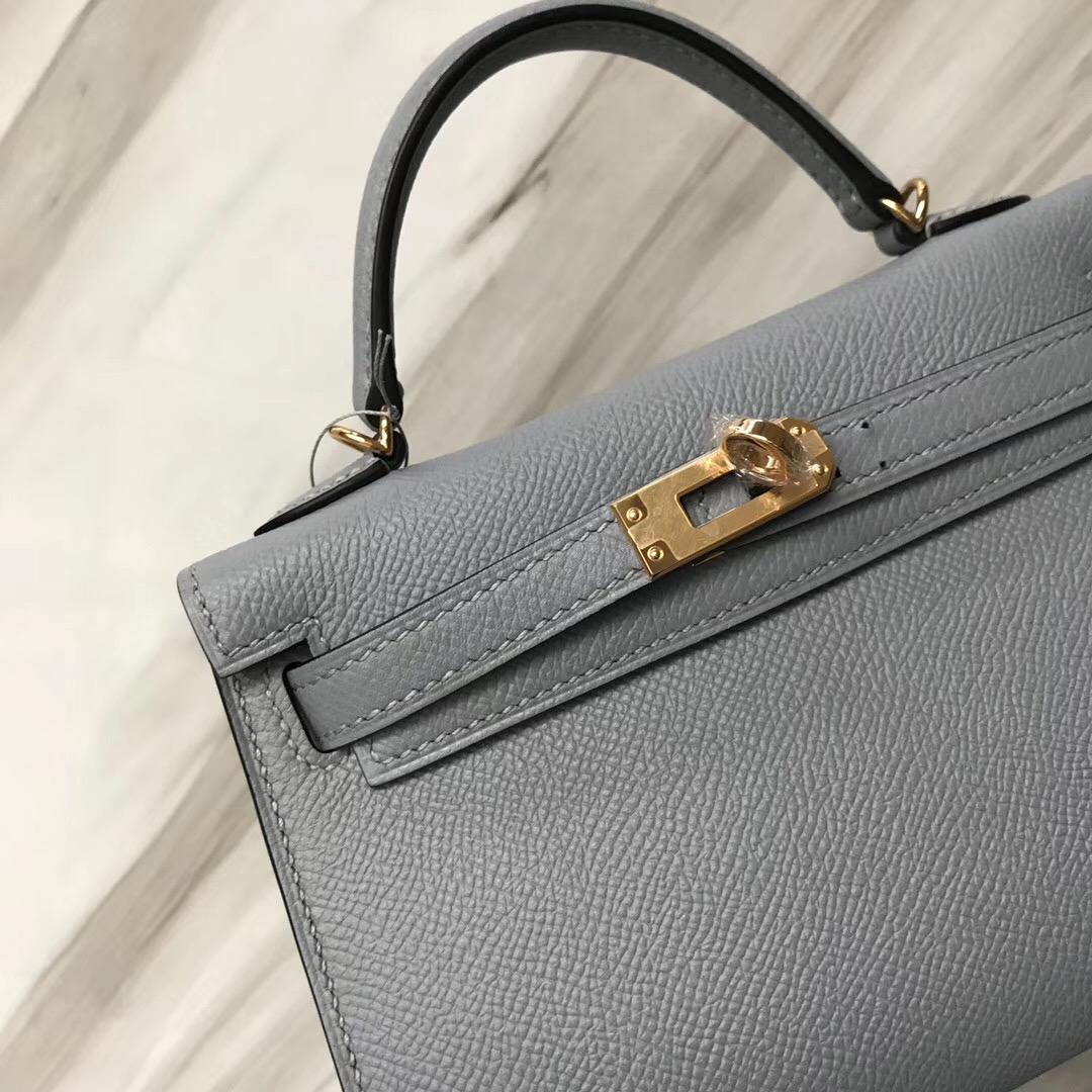 Hong Kong Hermes MiniKelly二代 Epsom J7亞麻藍 BlueLin