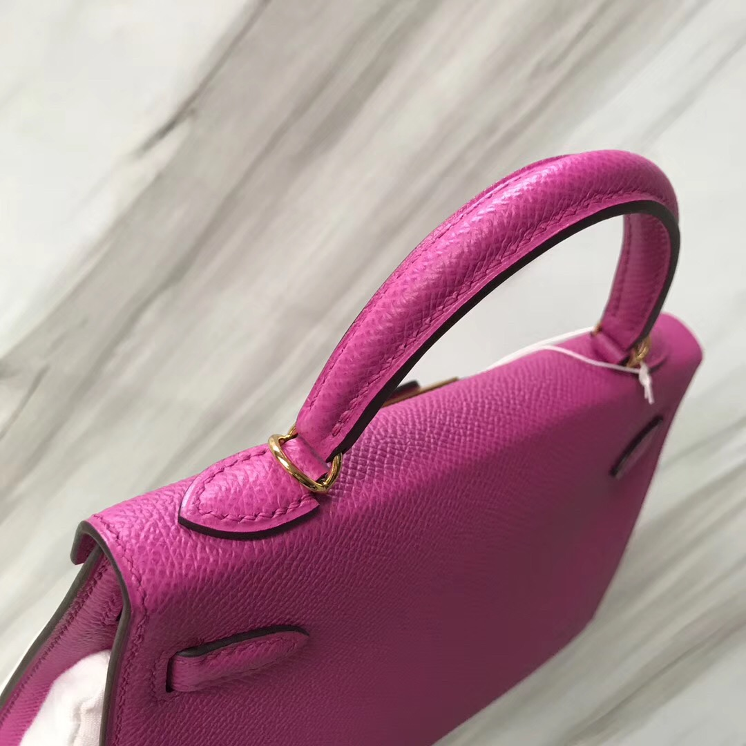 Hong Kong Hermes Mini kelly二代 Epsom 9I Rose Magnolia 玉蘭粉