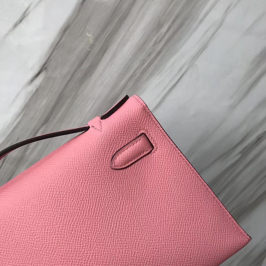 香港愛馬仕迷妳凱莉包價格 Hermes MiniKelly 1Q Rose Confetti 奶昔粉